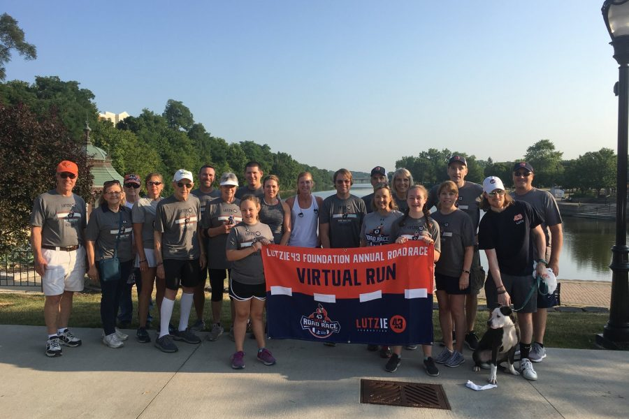 virtual runners at the lutzie 43 road race, not running from marietta georgia but running in memory of Philip Lutzenkirchen